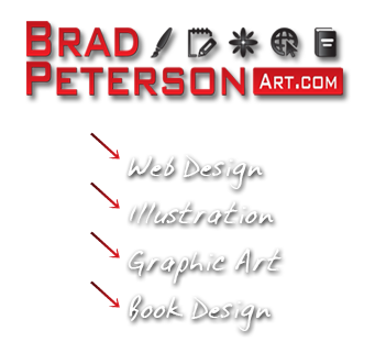 Brad Peterson is a Freelance artist, illustrator, web designer and book designer
