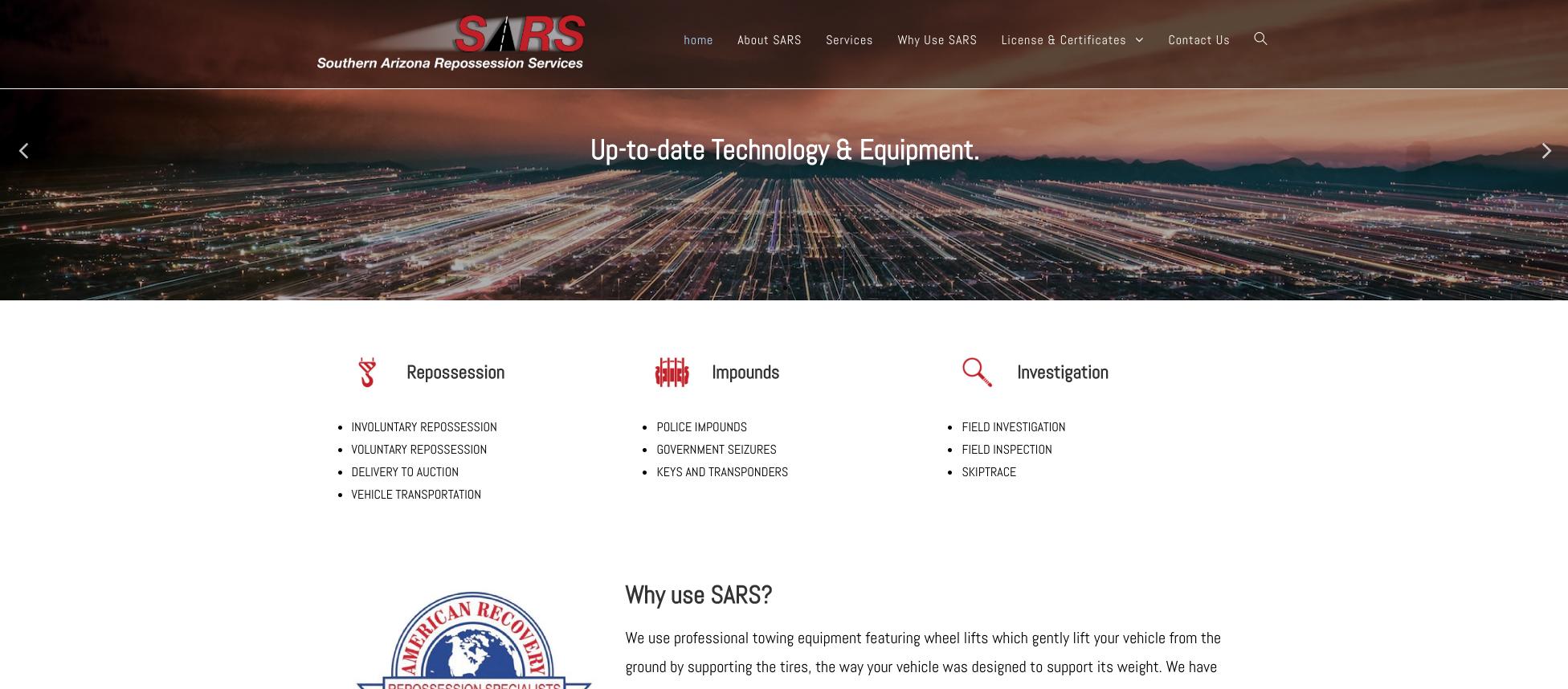 SARS repossession website