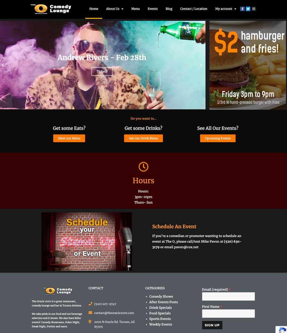 the oracle 2000 web design in tucson arizona