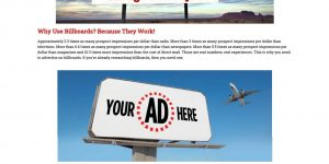 your billboard company web design tucson arizona